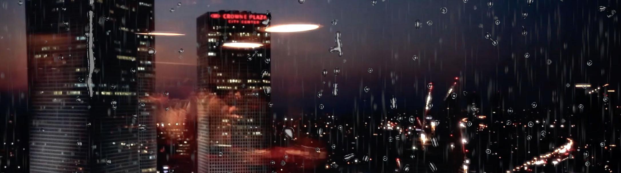 Rain drops - Droping Rain on transparent background